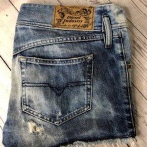 ⚫️ Diesel Mintha Denim Shorts Size 32